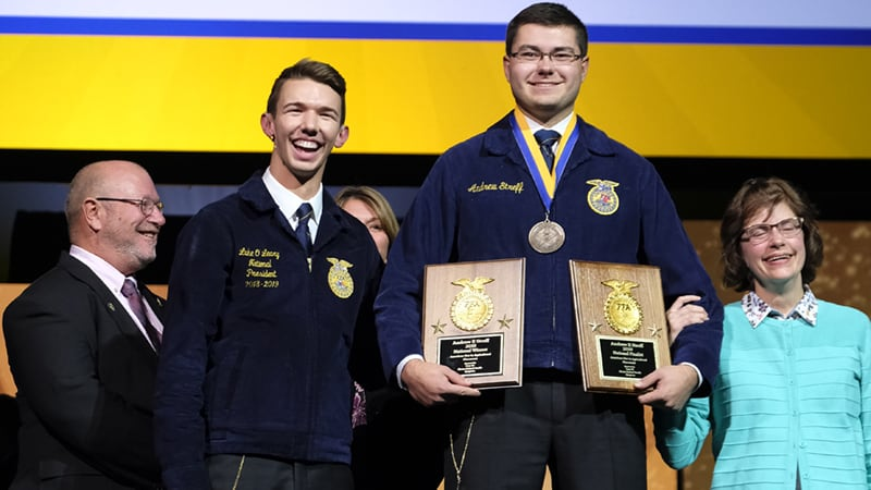 Andrew Streff 2019 American Star in Agricultural Placement Winner
