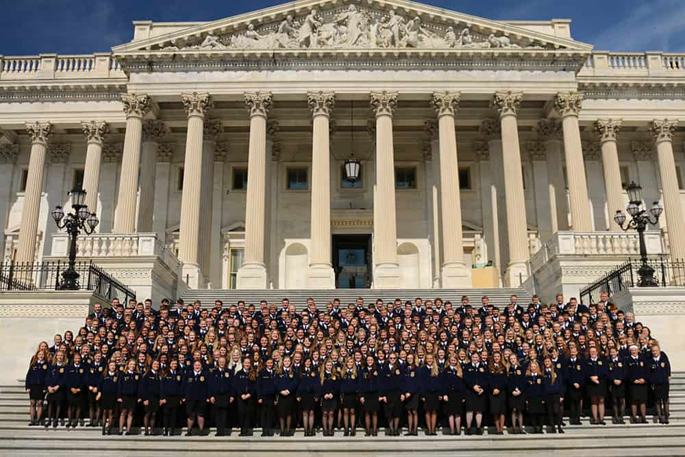 FFA members in Washington D.C.
