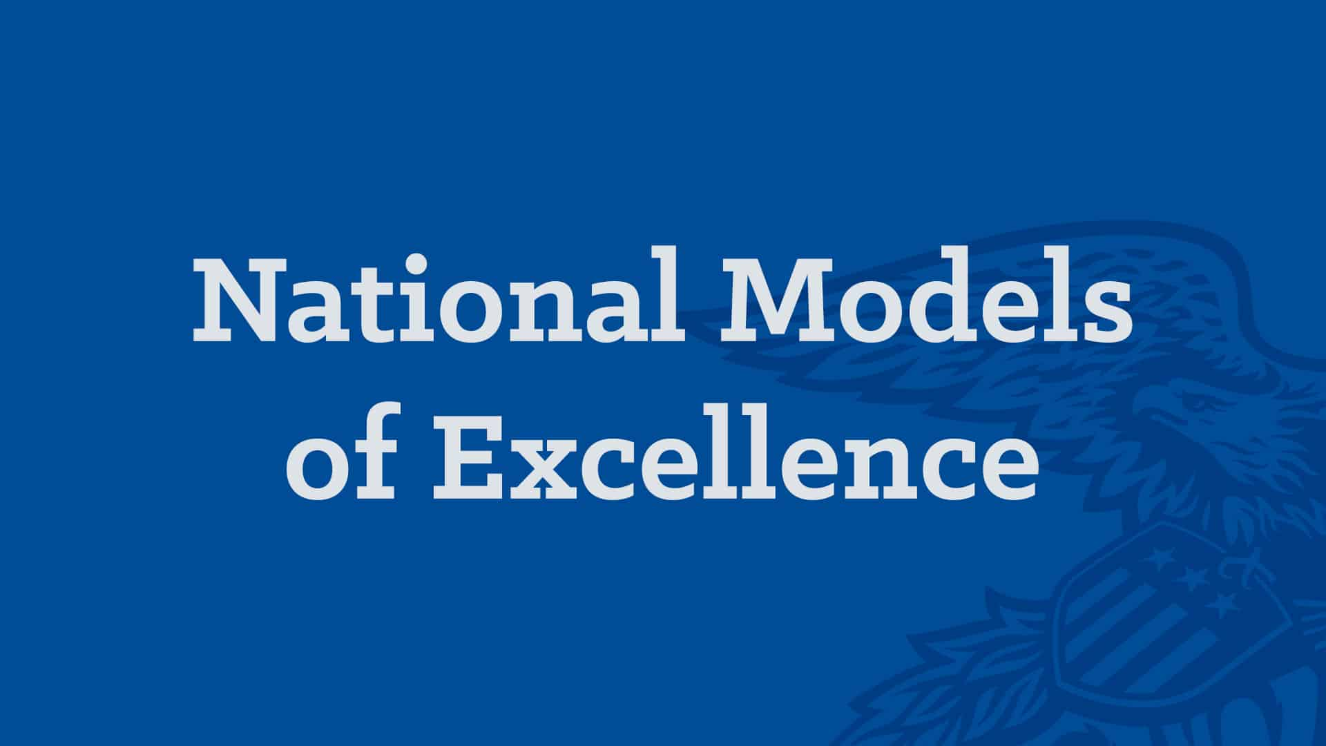 National Chapter - National Models of Excellence Banner