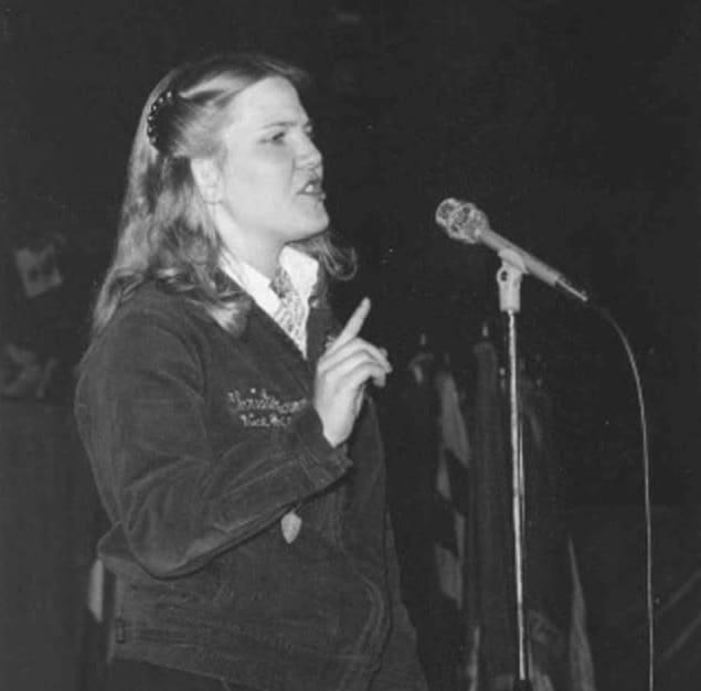 Christe Peterson in Extemporaneous Public Speaking Contest, 1979