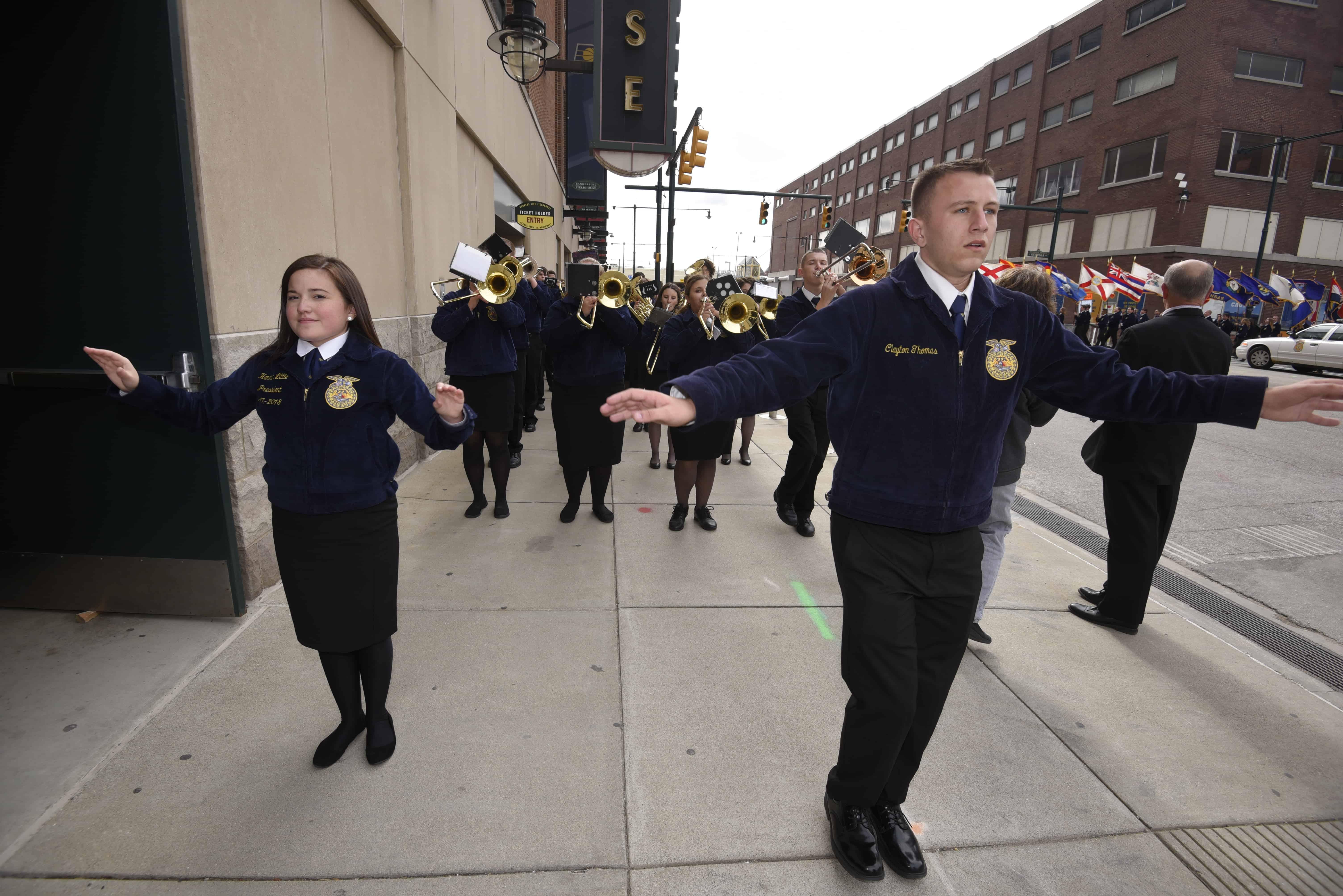 Band Drum Major Attends Convention, Despite Loss