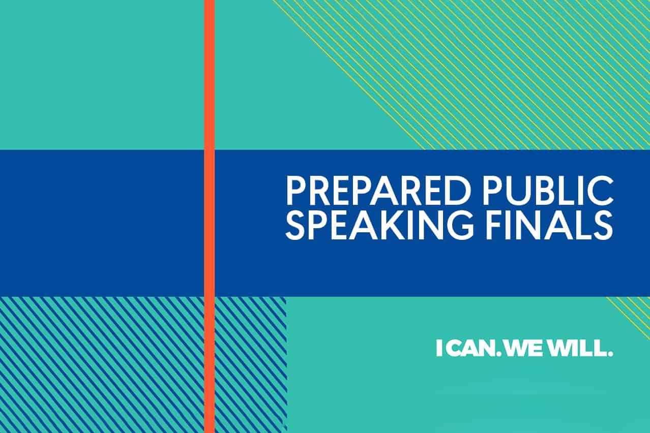 Watch live: Prepared Public Speaking Finals