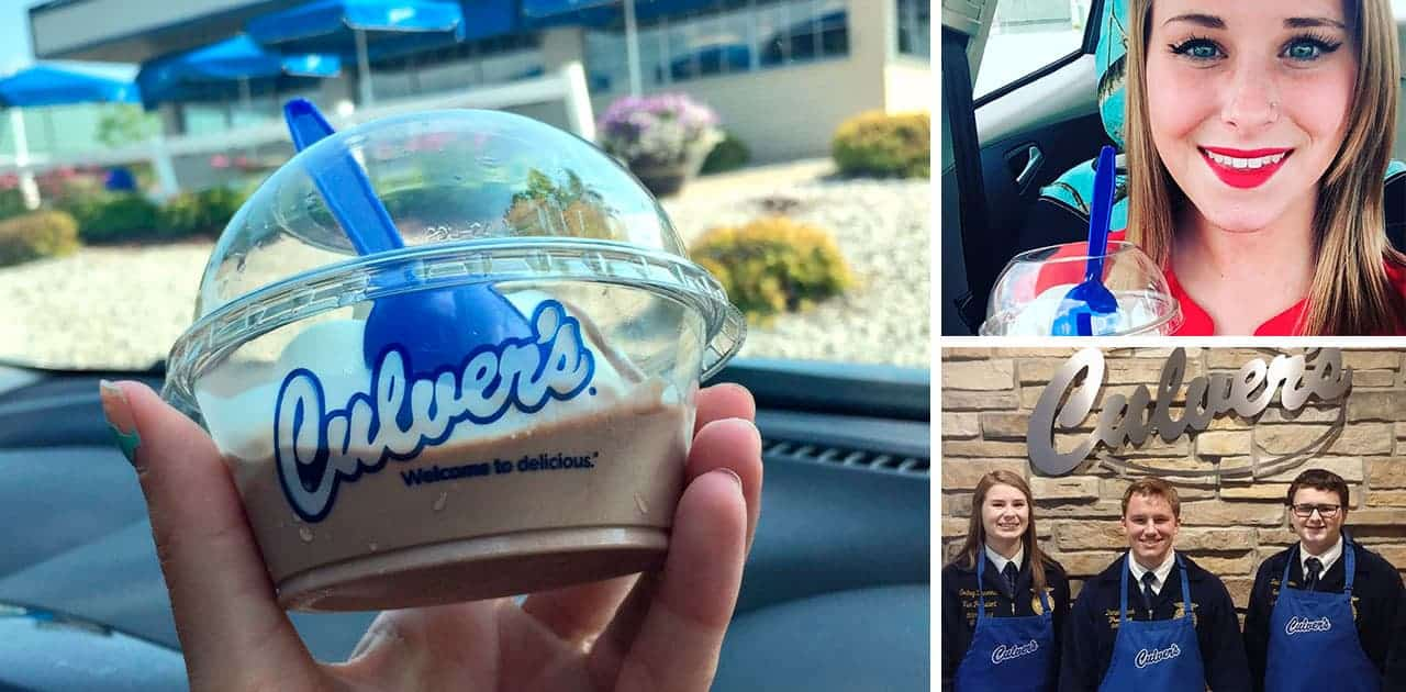 "Culver's ""Scoops of Thanks"" Benefits FFA and Agriculture May 3"