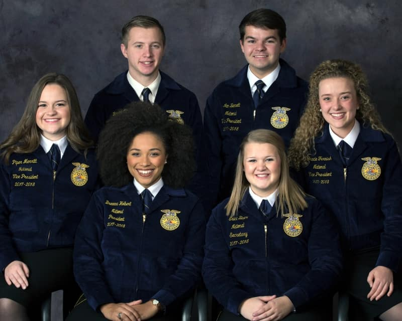 Portrait of 2017-18 National FFA Officer Team