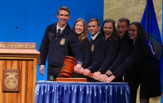 2018-19 National Officers (Gavel Shot)