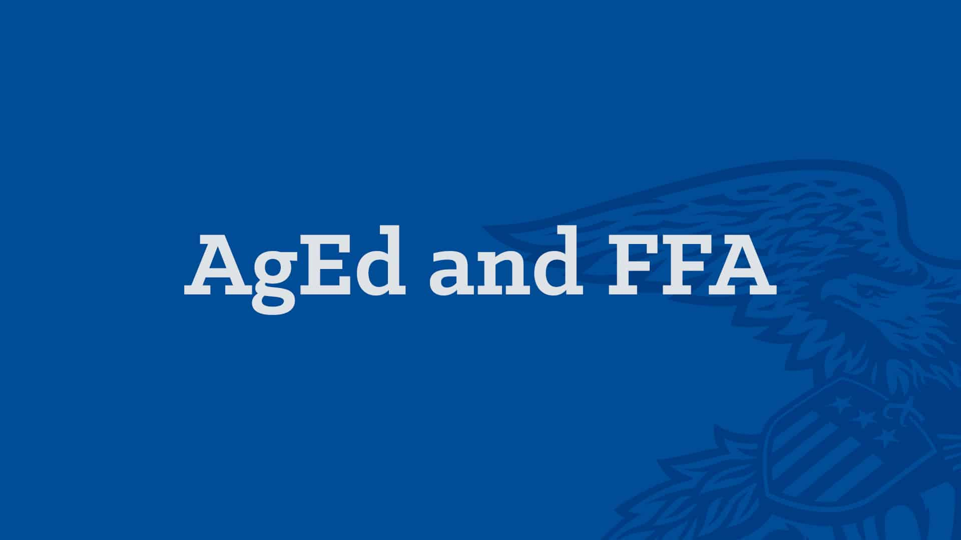 AgEd Academy AgEd and FFA Banner