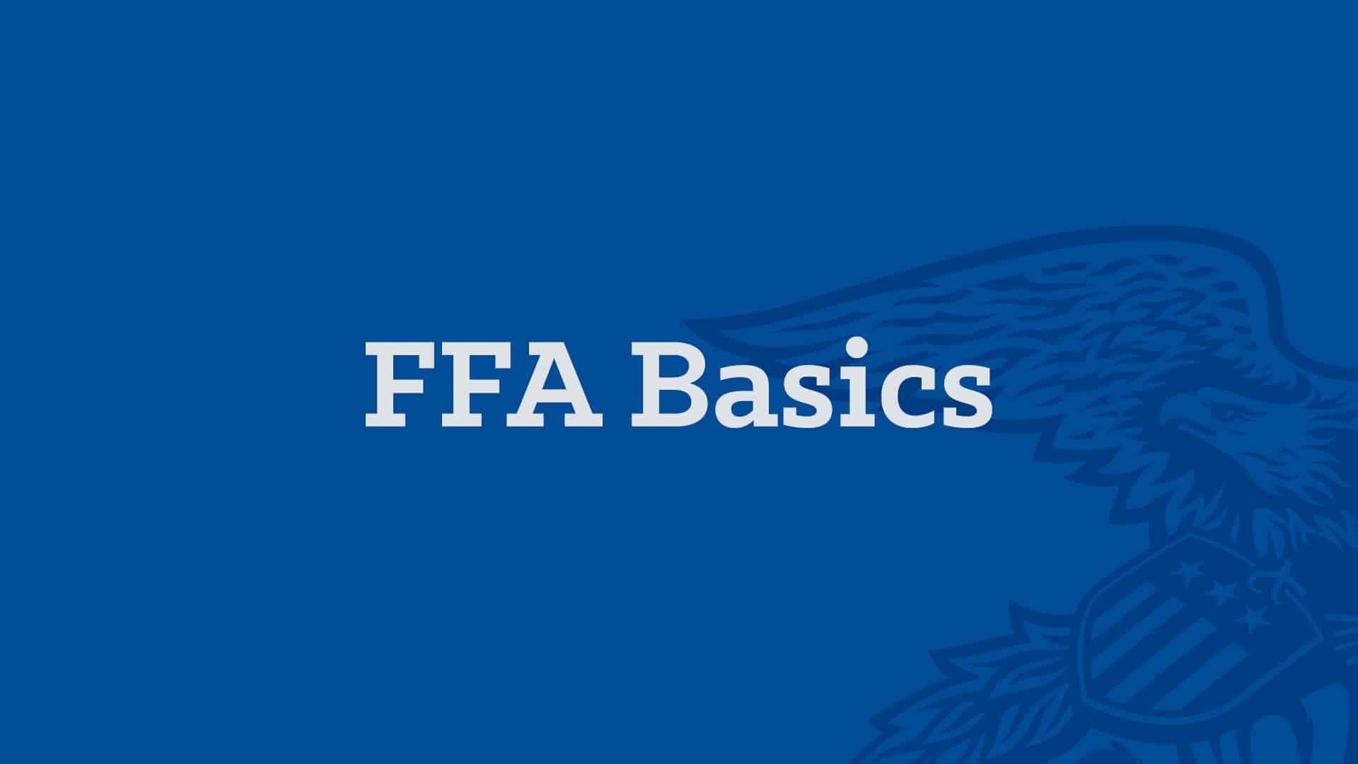 AgEd Academy FFA Basics Banner