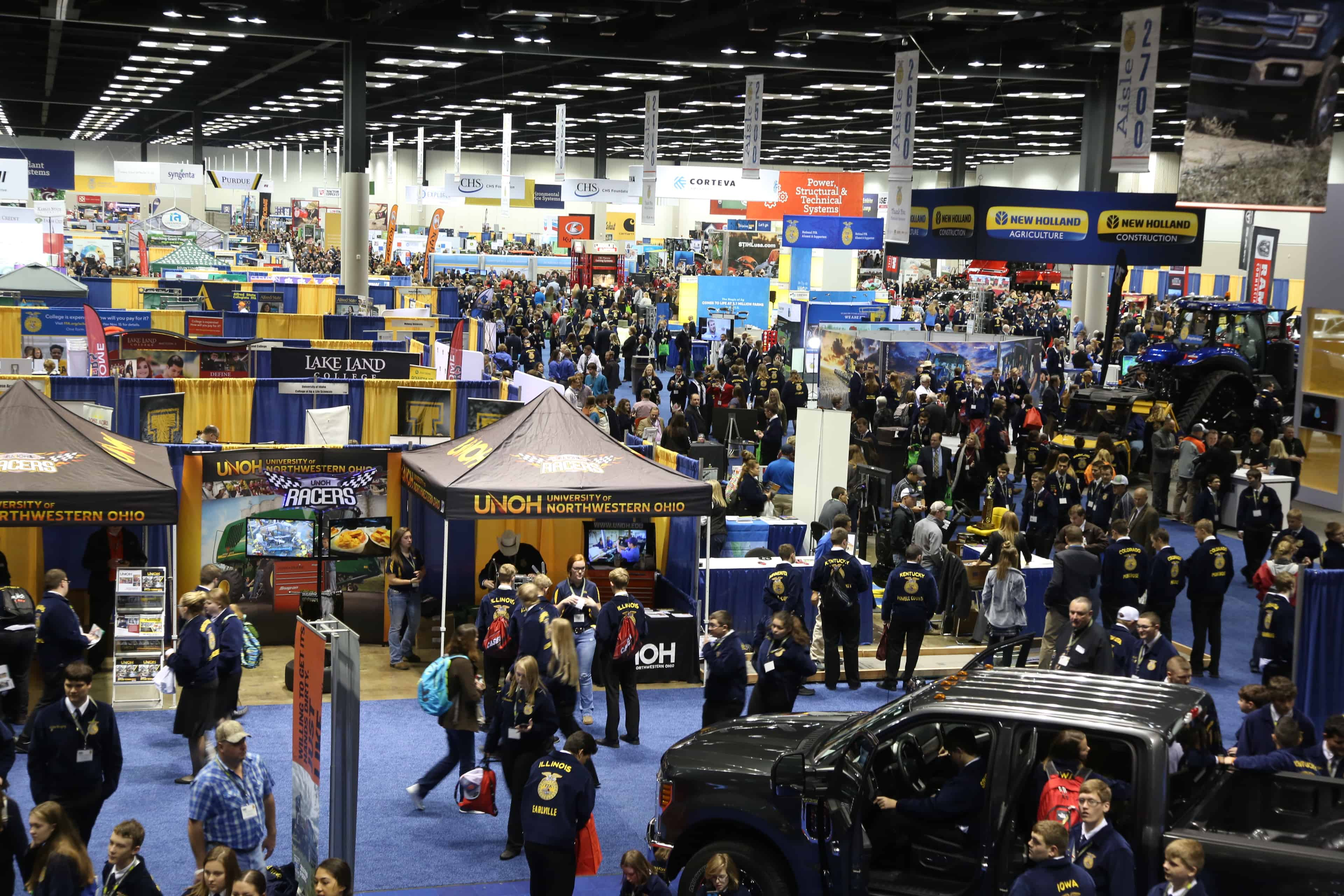 A broad view of the National FFA Expo inside the Indiana Convention Center.