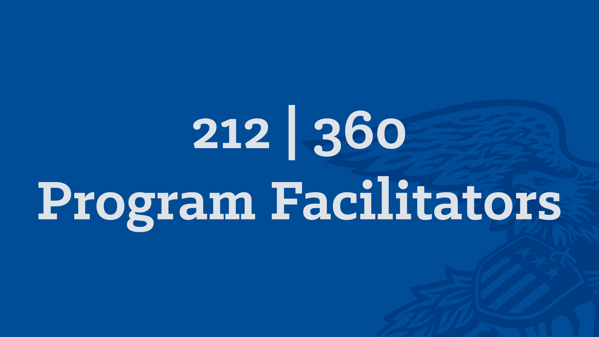 212-360 Program Facilitators
