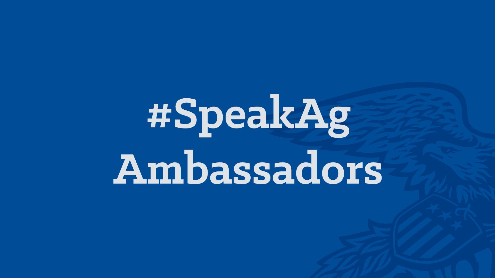 SpeakAg Ambassadors
