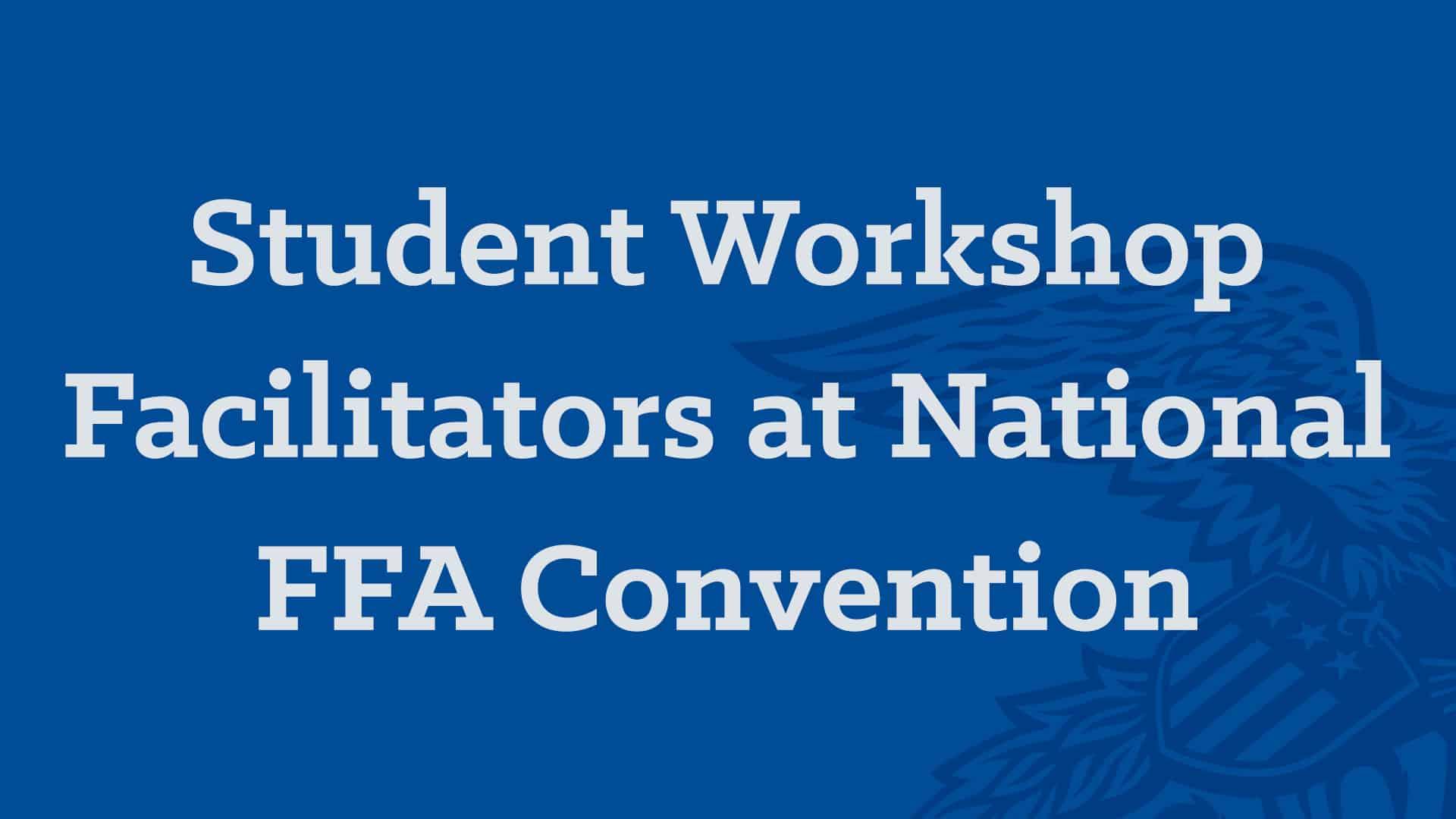 Student Workshop Facilitators at Convention
