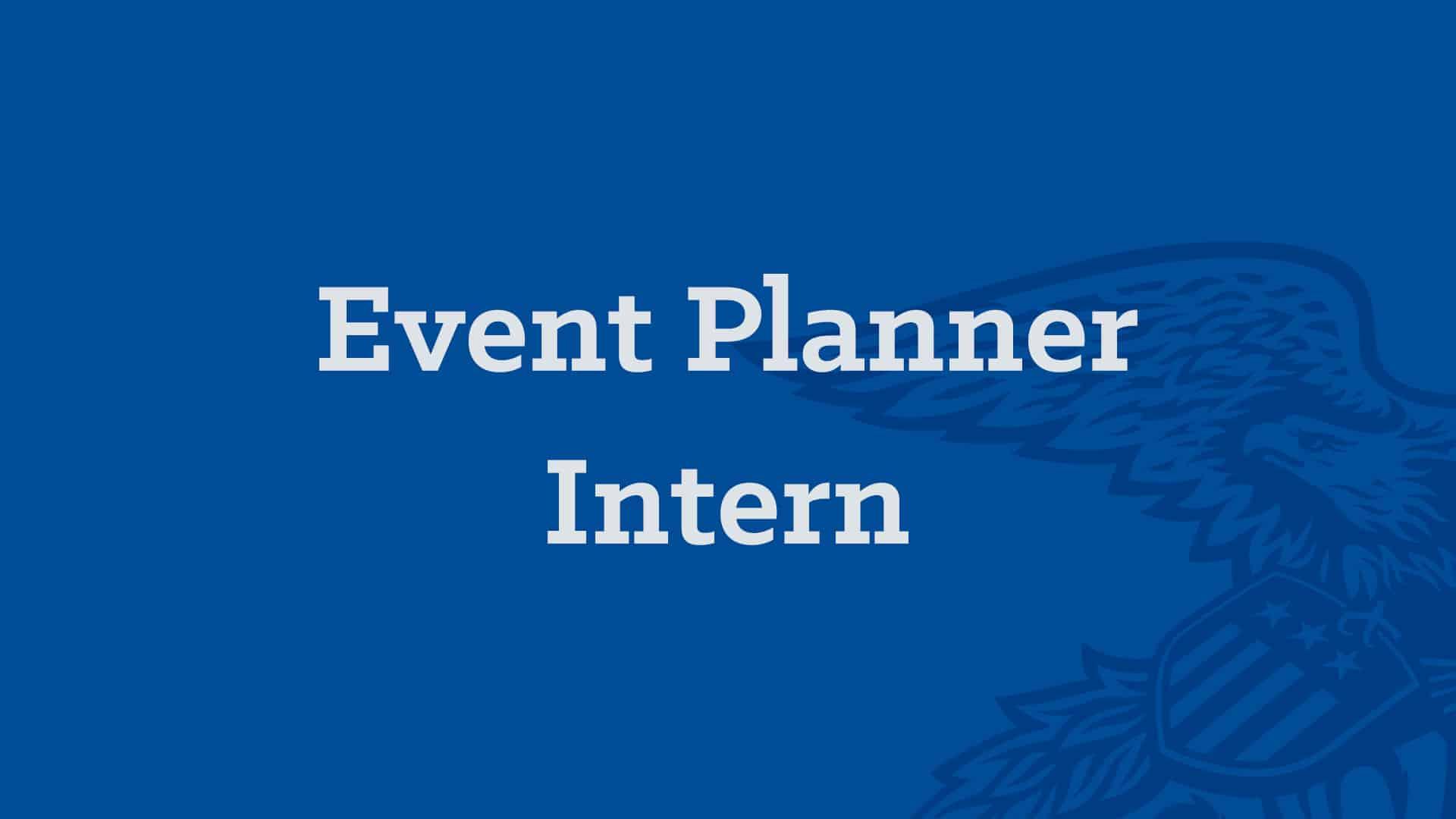 Event Planner Intern Banner