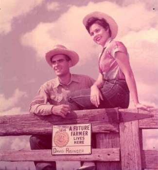 David Risinger and Texas FFA sweetheart, 1954