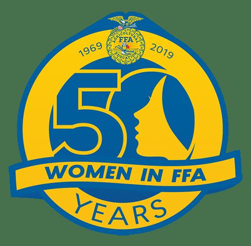 50 Years of Women in FFA Logo