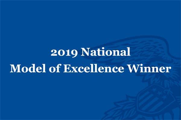 2019 National Model of Excellence Winner
