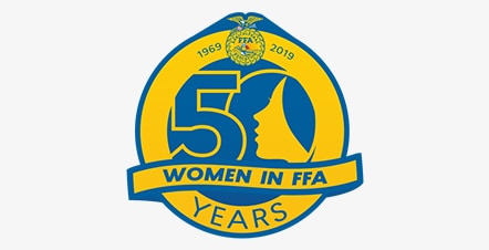 50 Yrs of Women in FFA Homepage Logo
