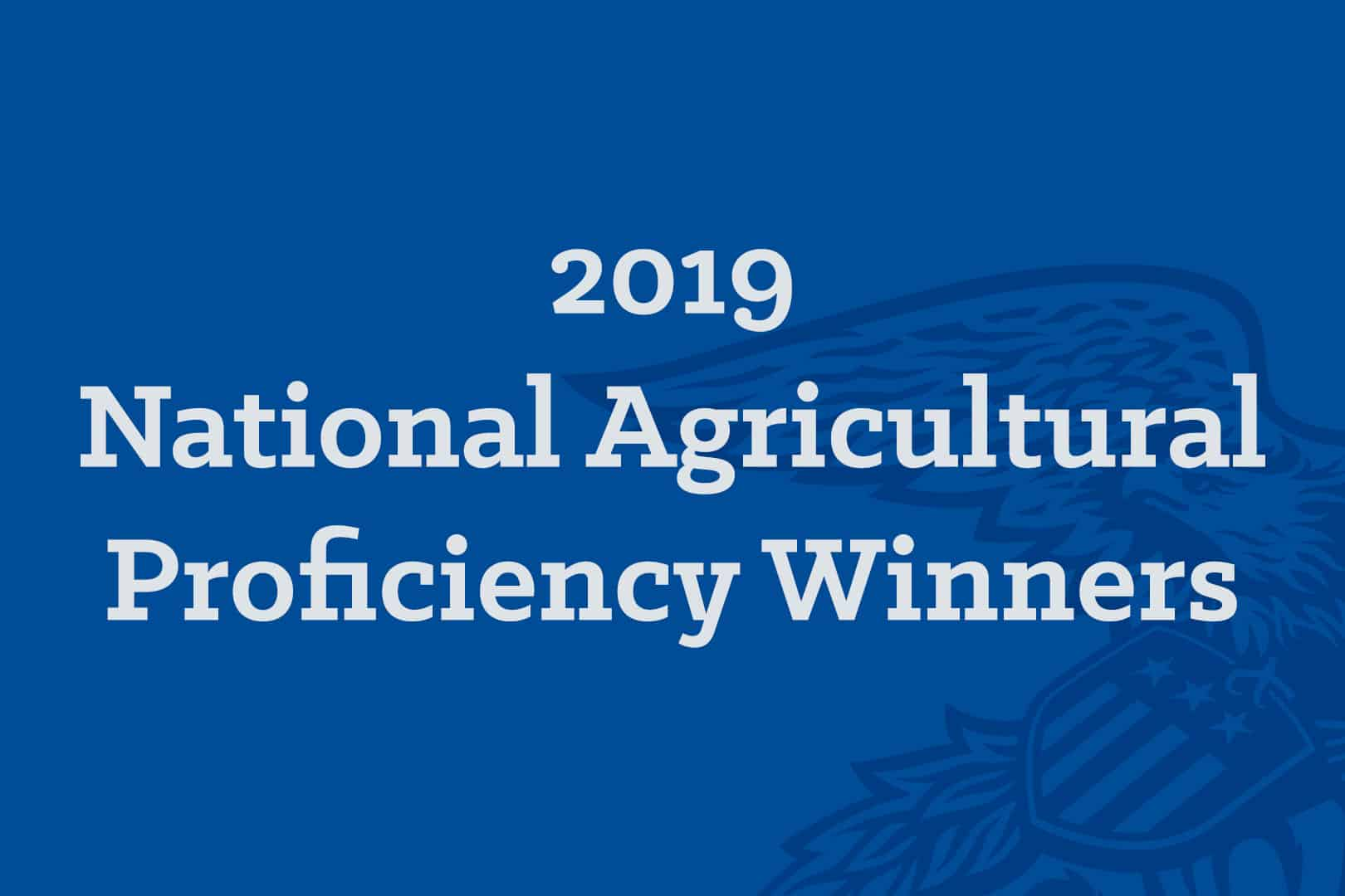 2019 National Agricultural Proficiency Winners 600x400