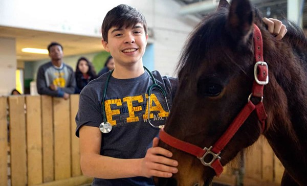 FFA Member with Horse
