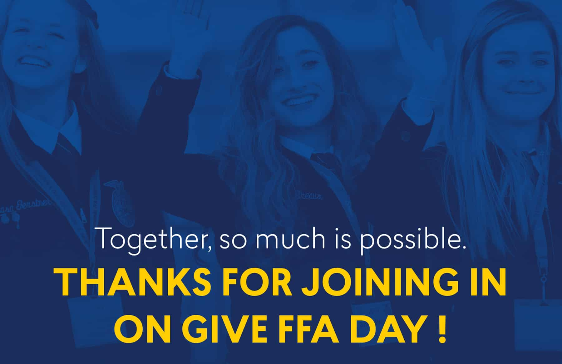 Give FFA Day Thank You