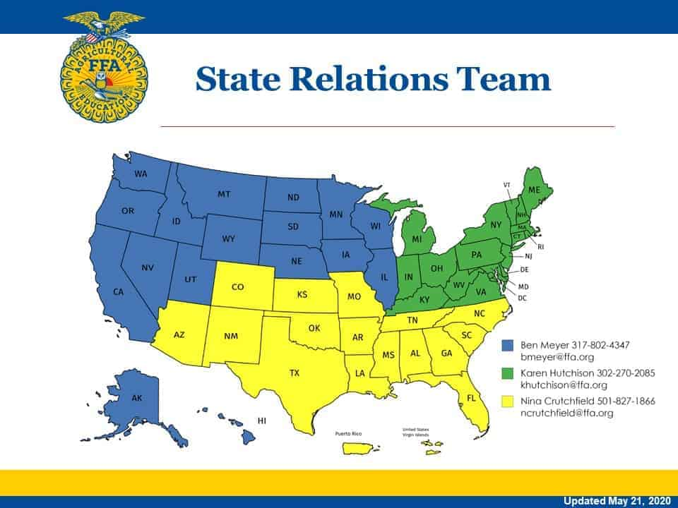 State Relations Team Map