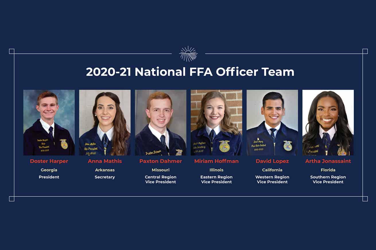 Portrait of 2019-20 National FFA Officer Team